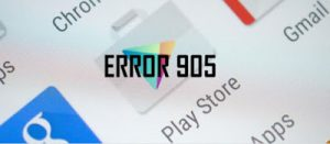 : Error 905