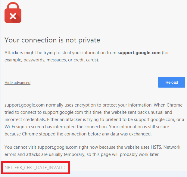 How to Fix SSL Certificate Errors in Google Chrome | Official Tech ...