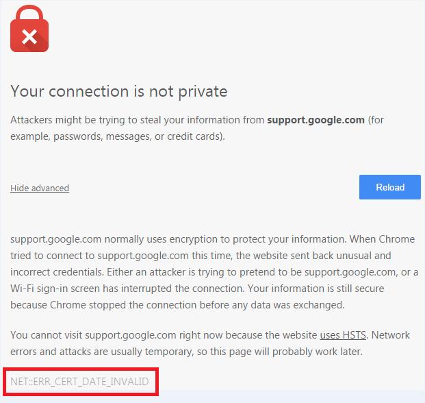 ssl certificate errors