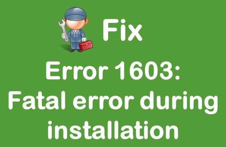 error 1603