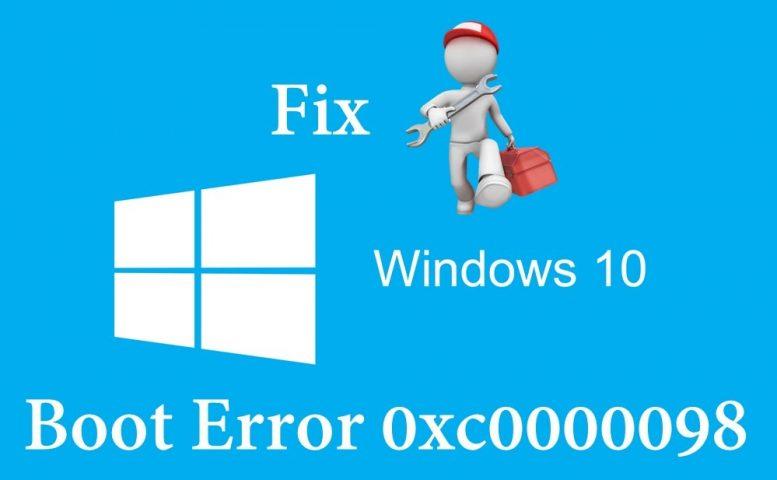 Boot error 0xc0000098