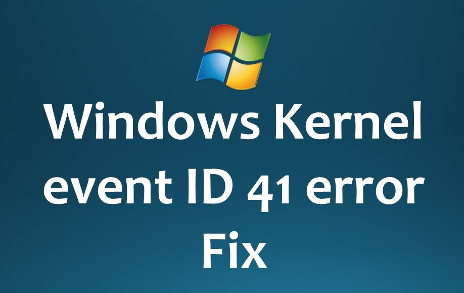event ID 41 error