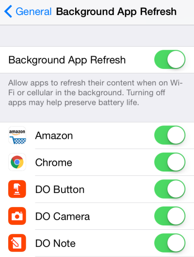 Background App Refresh to fix iPhone X battery issues