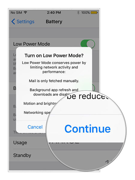 Low Power Mode to fix iOS 11.3 battery Drain Issues