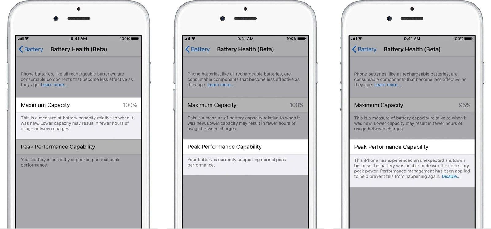 Check and Maintain Battery Health to fix iOS 11.3 Battery Drain Issues