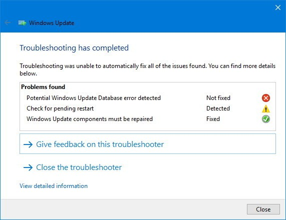 Windows 10-update-troubleshooter