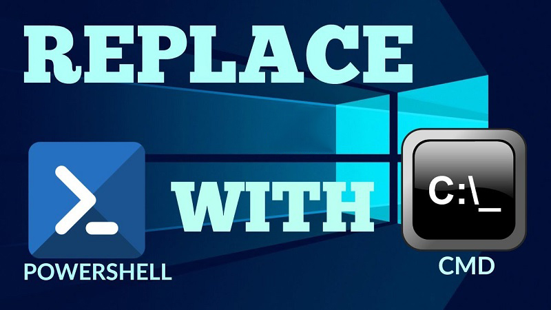 Replace PowerShell with Command Prompt