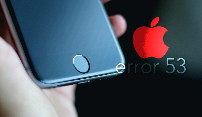 how to fix error 53 on Iphone