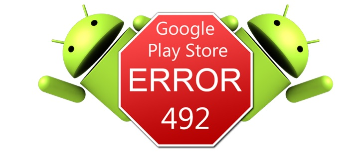 google play store error 492