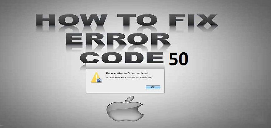 fix mac error code 50