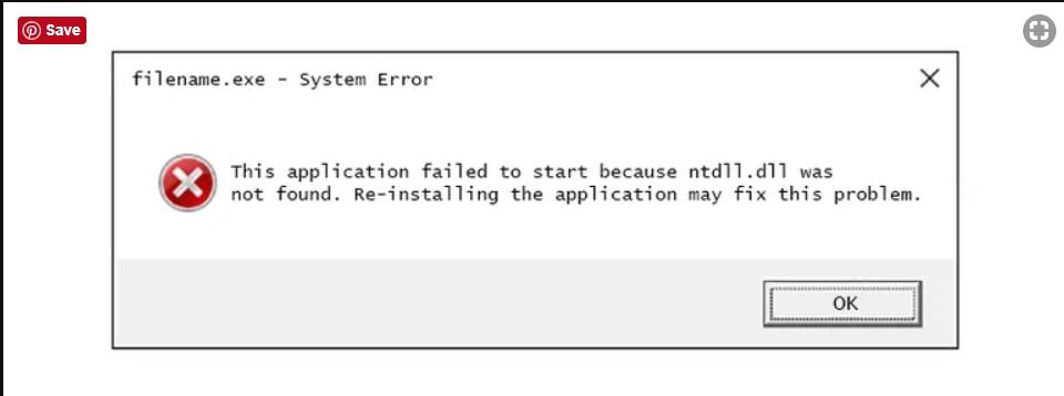 fix ntdll.dll errors