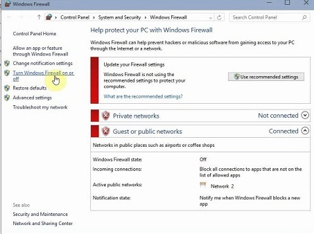 firewalls-windows 10 issues with Wi-Fi