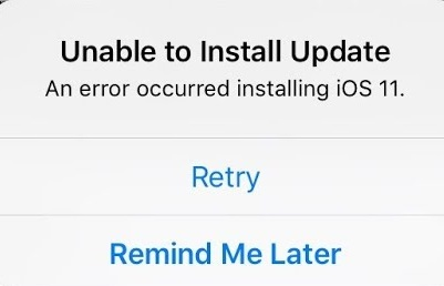 instalation-Common iOS 11 Issues