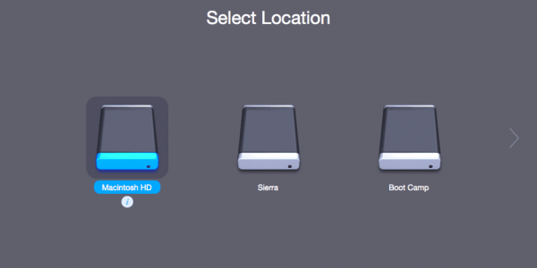 Further, choose your preferable Mac hard drive from the list of available storage devices. Tap Scan.