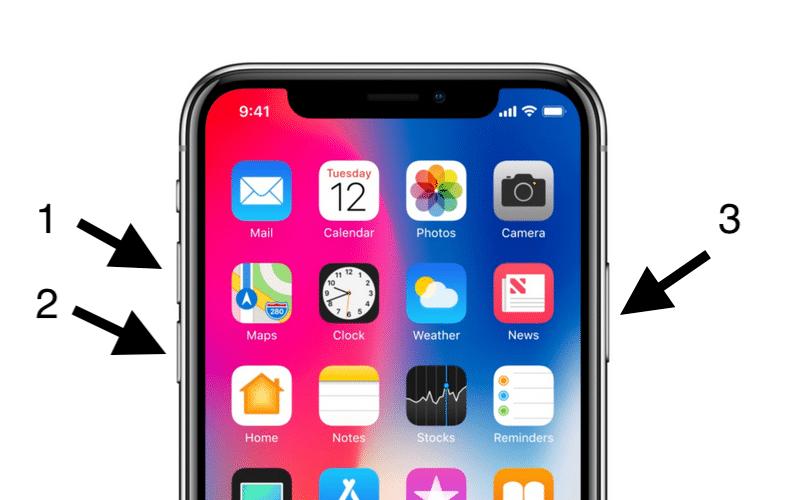 restart-iPhone 10