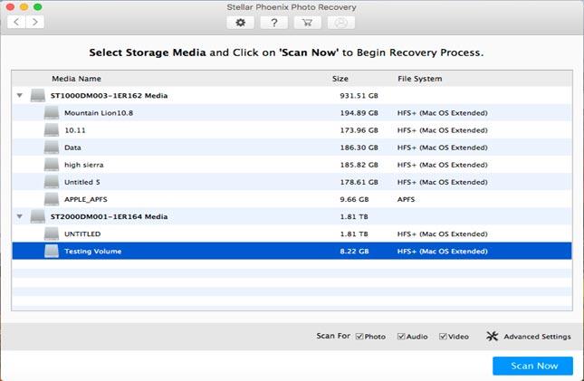 stellar phoenix recovery software for mac