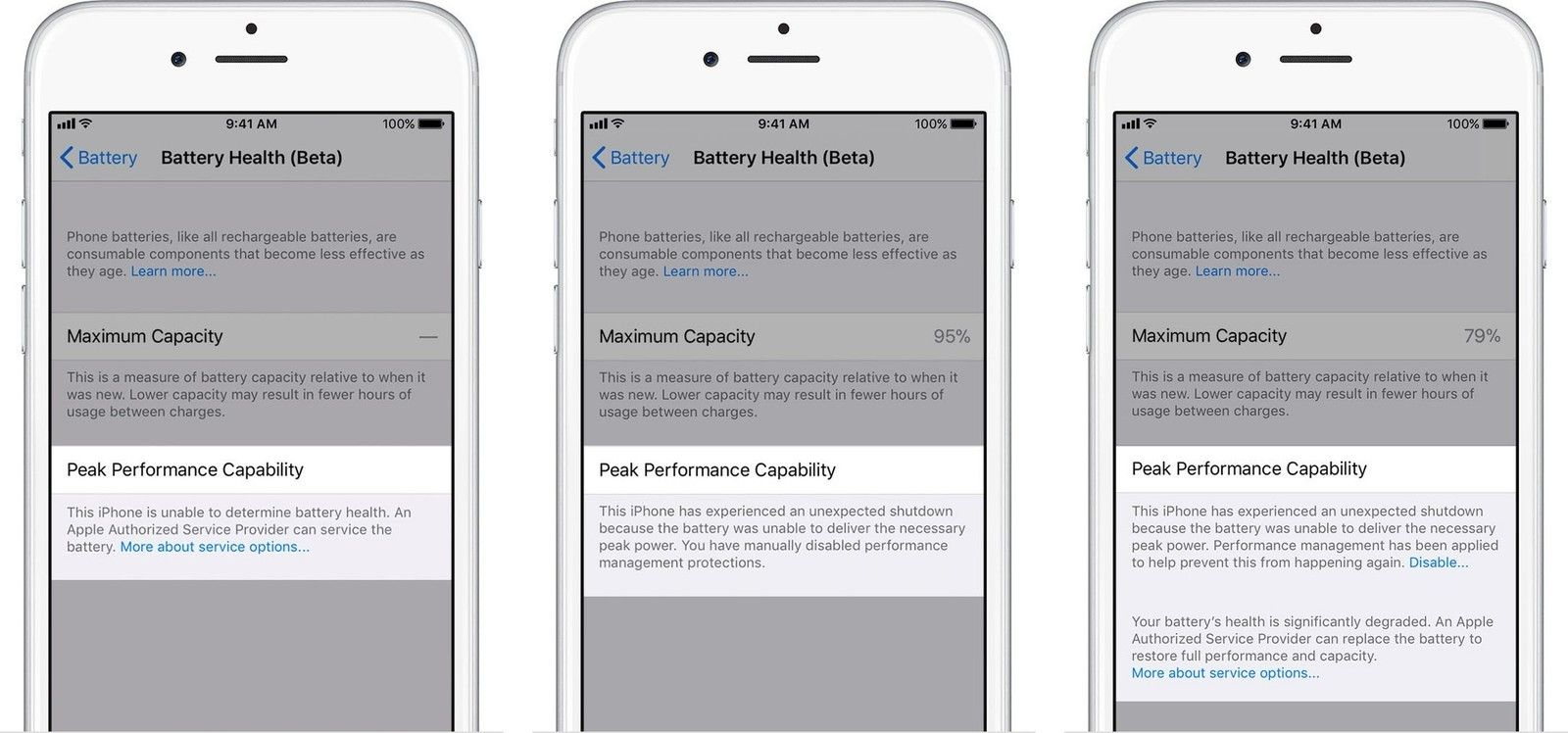 Check and Maintain Battery Health to Fix iOS 11.3 Issues