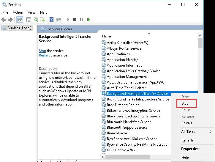 fix the Windows error 0x800705b4