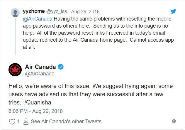 air-canada-data-breach-tweet