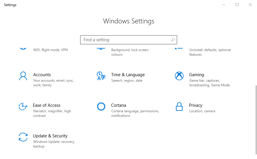 Windows Insider Settings
