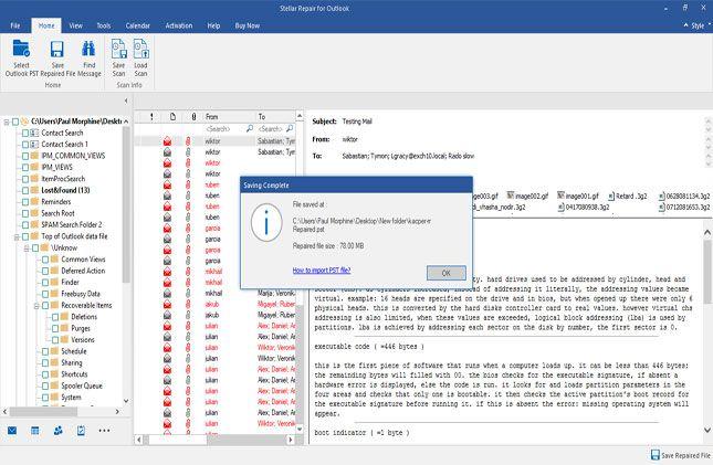 Step 7 - Stellar Phoenix Outlook PST Repair Software