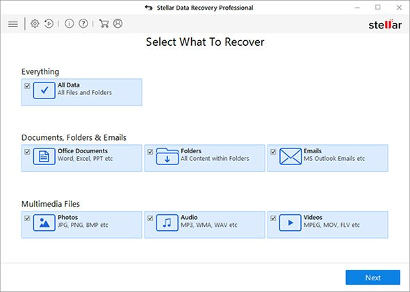 Stellar Free Data Recovery Windows
