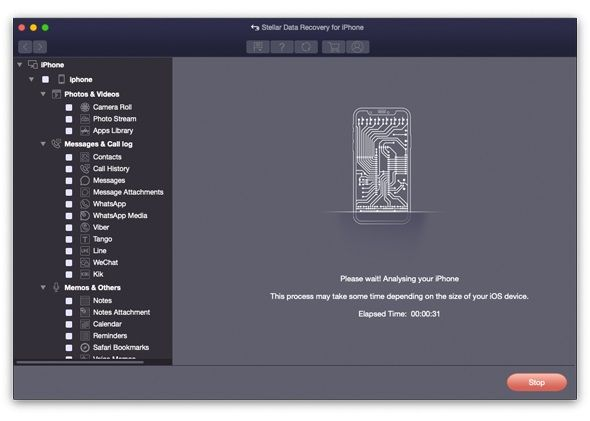 Stellar Data Recovery for iPhone - Mac 3